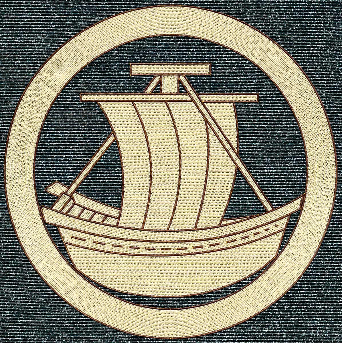 丸に帆掛け舟