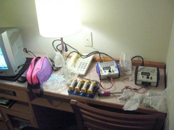 ホテルで充電