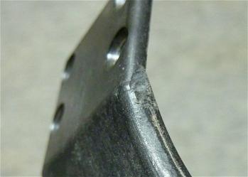 X-6のシャーシ破損