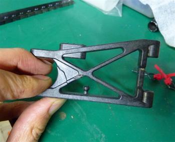 X-6のアーム破損