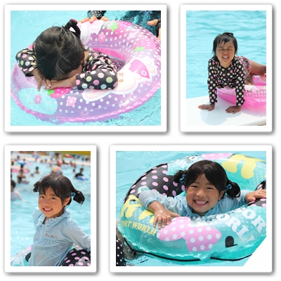 猛暑とプール2