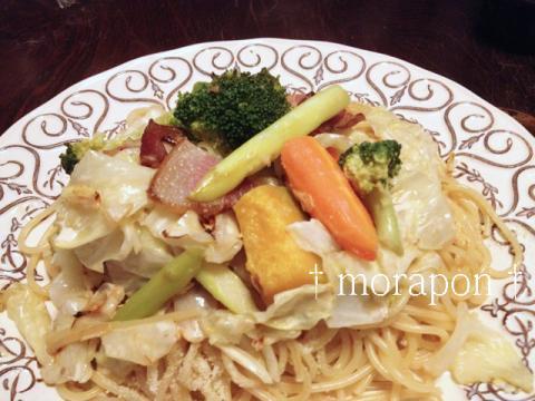 130923 ベーコンと野菜の和風クリームパスタ