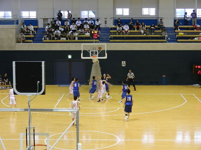 高校バスケ県体 032