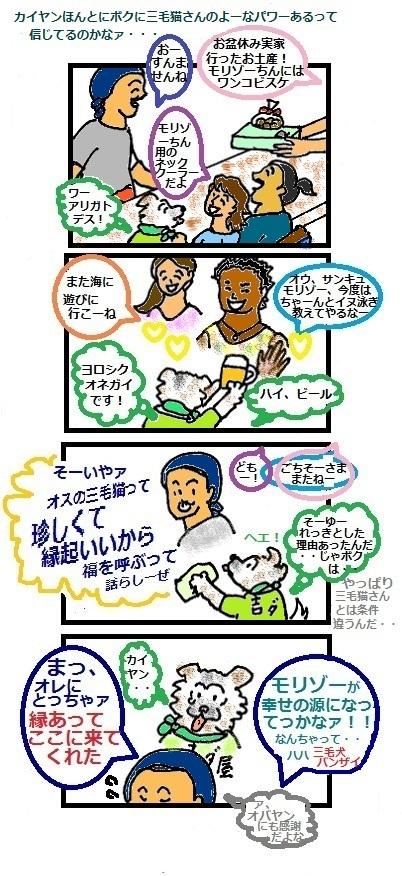 モリゾーちん19  三毛イヌ伝説part2