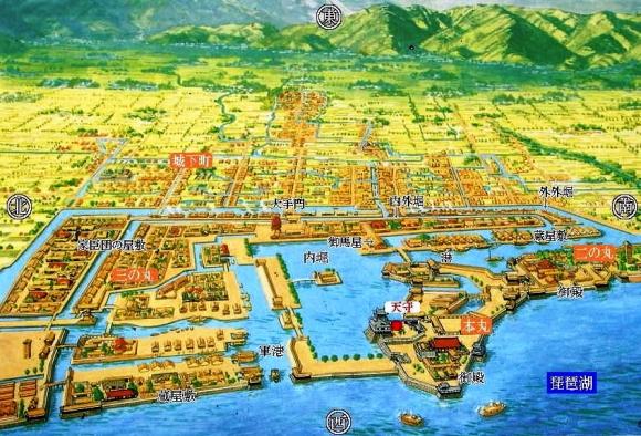 長浜城の構造推定復元図