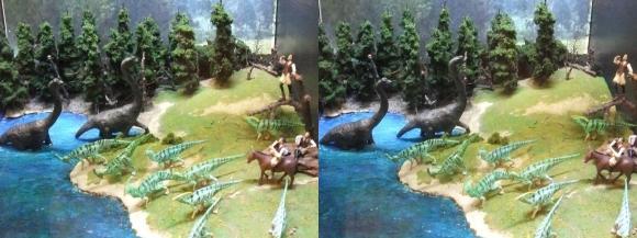龍遊館 恐竜王国①(交差法)