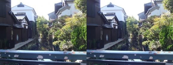 針屋橋からの米川(平行法)