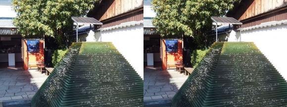 黒壁ガラス館 ガラスの噴水 トポスポット(交差法)