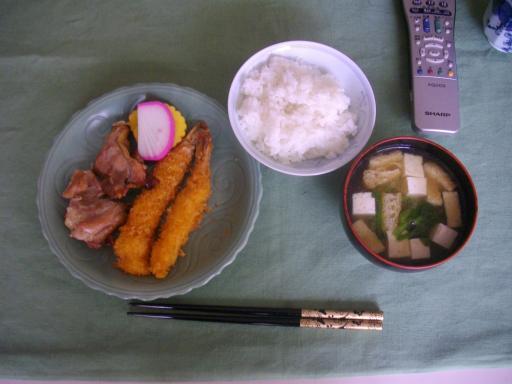今朝の朝食1