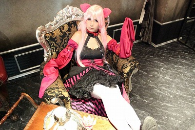 巡音ルカのアリスインミュージックランド衣装のコスプレ写真。bootyにて撮影