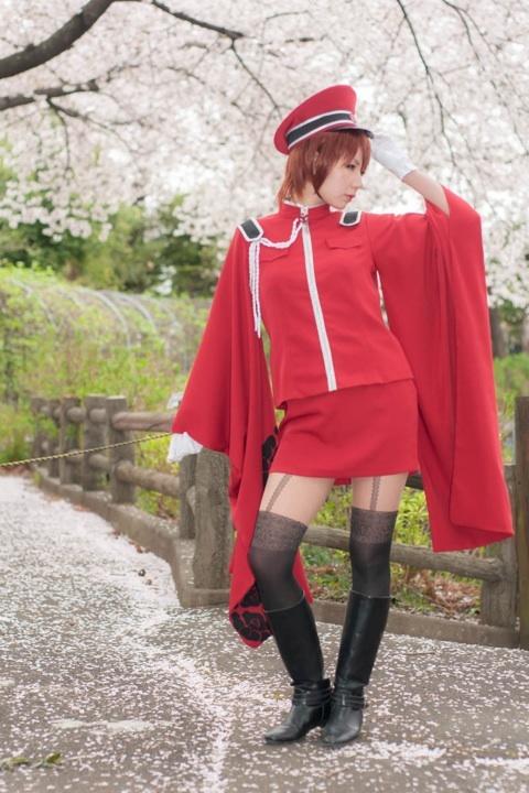 としまえんで撮影した、ボカロのMEIKO。千本桜衣装のコスプレ画像