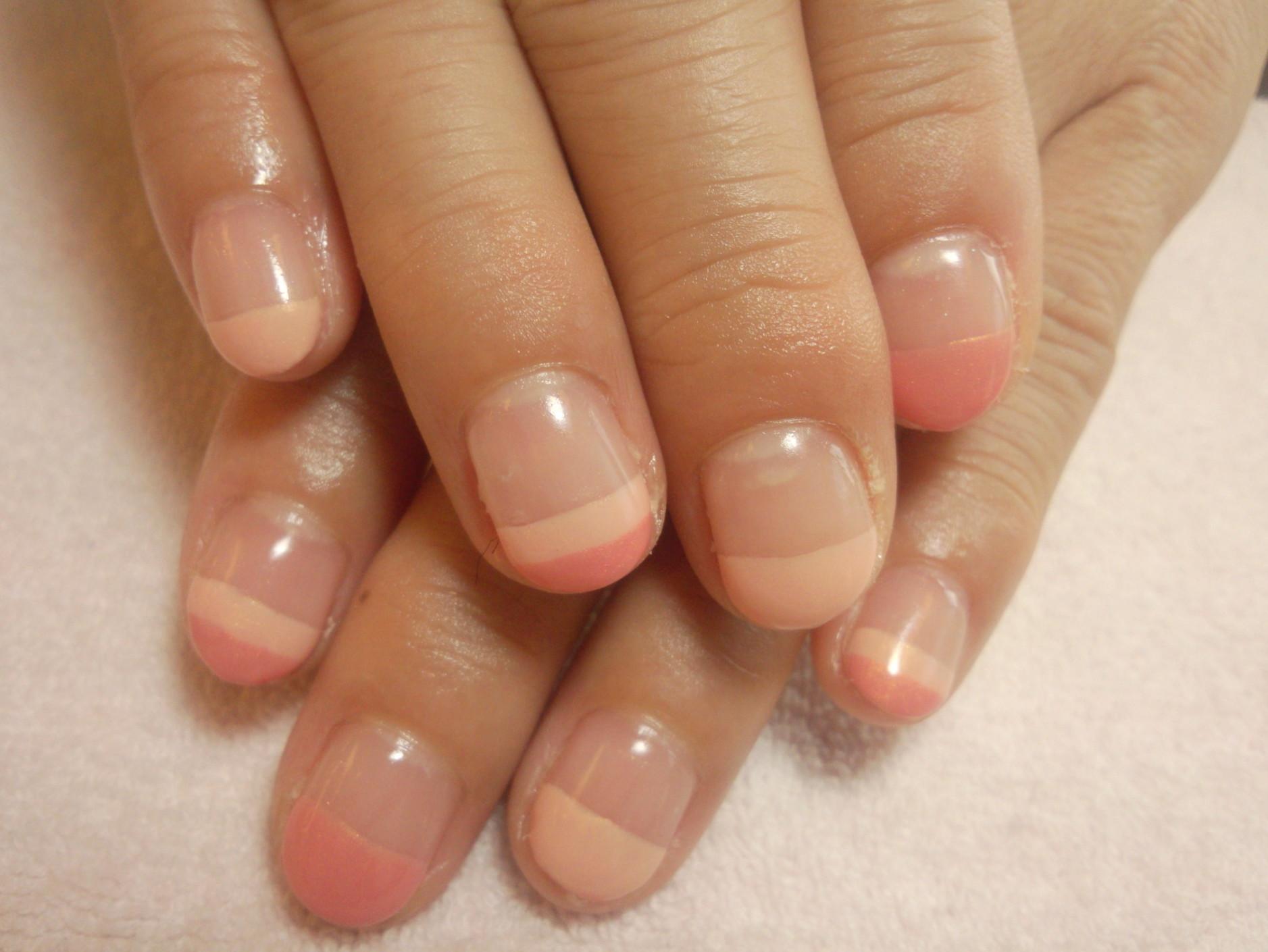 2色ピンク シンンプル ボーダー ジェルネイル 初夏 サマー 夏ネイル ネイル画像 エレガント 大宮