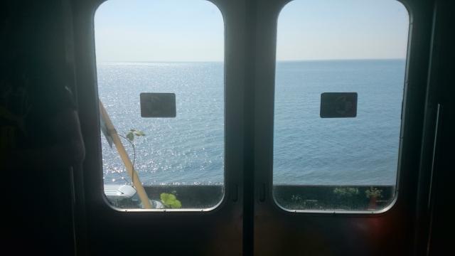 鹿児島湾朝日