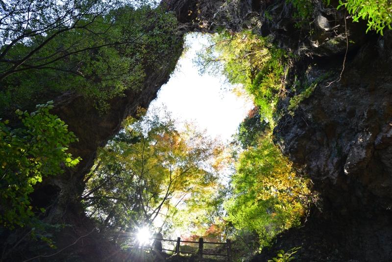 石門洞の紅葉2 (香川県 小豆郡 小豆島)