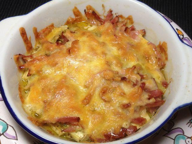 ベーコン茄子チーズ焼