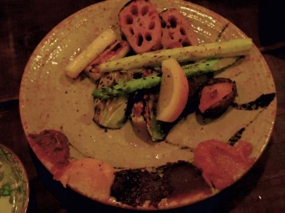 炭焼きとごはん慎也焼き野菜5種盛り