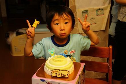 マイクケーキとピース☆