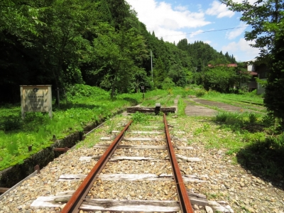 駅構内北側の線路