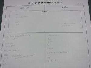 キャラクター創作シート1