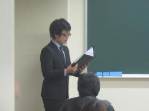 マンガの藤田先生がプレゼンテーター