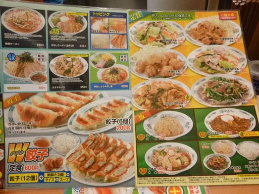 日高屋メニューのランチでダブルW餃子定食012