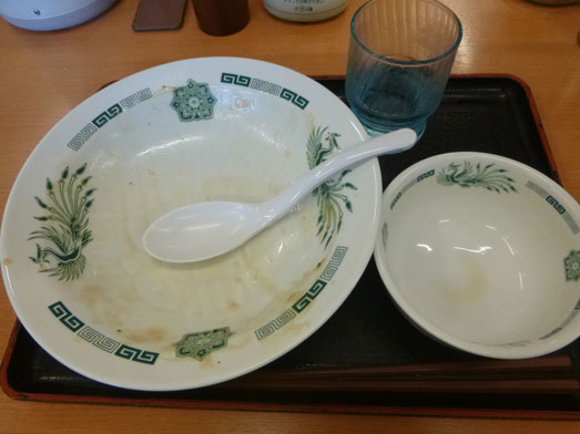 日高屋メニューのランチでダブルW餃子定食022