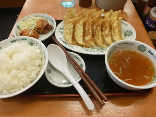 日高屋メニューのランチでダブルW餃子定食023