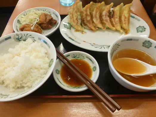 日高屋メニューのランチでダブルW餃子定食031