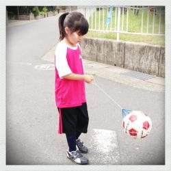 サッカー始めました!