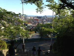 神社からの眺め