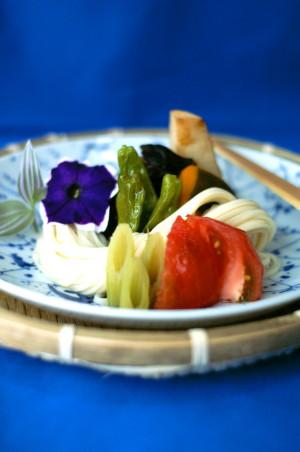 夏野菜うどん2