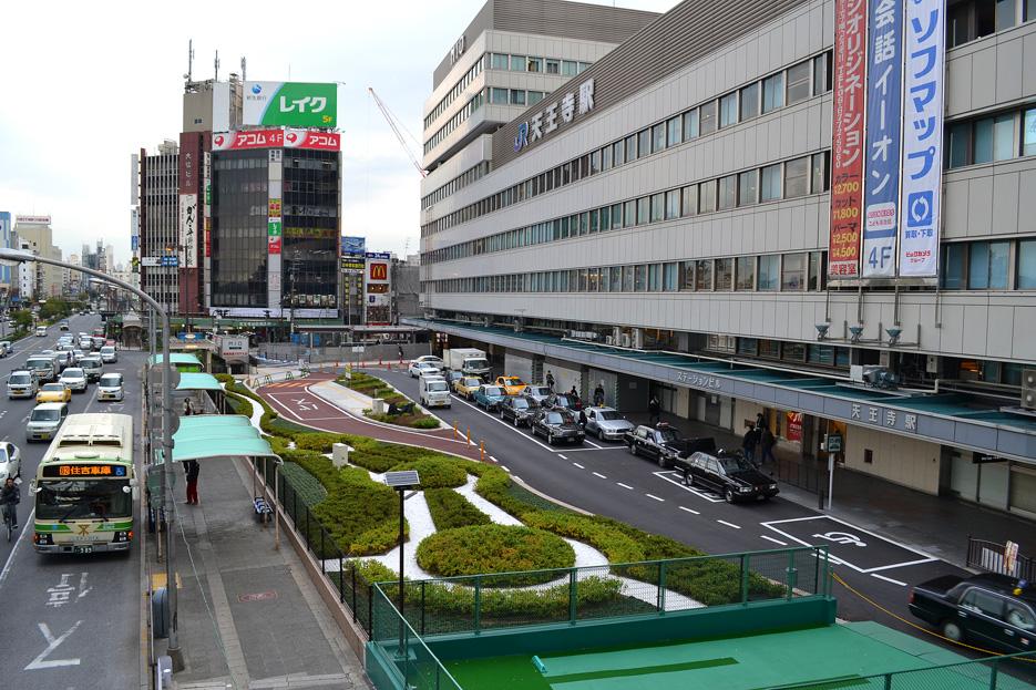 JR天王寺駅 西側ロータリー 131127 [ 大阪・近畿を中心にした街の写真 ~ Scene of Osaka and Kinki ~ ]