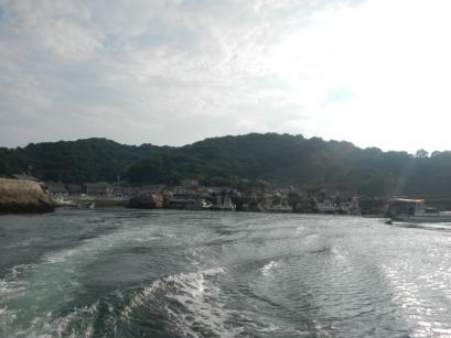 真鍋島出発