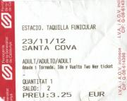 Santa Cova billete