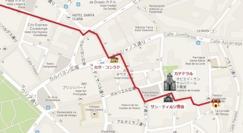 オビエド散策マップ 01