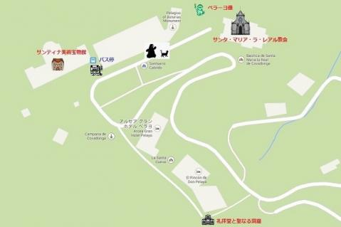 mapa de Covadonga