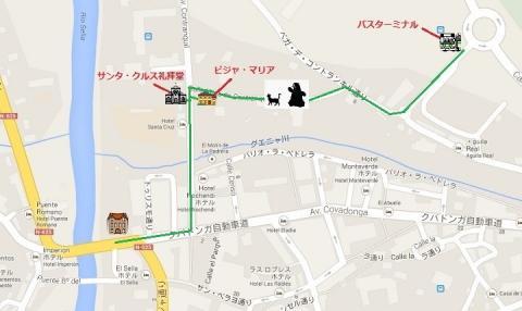 mapa de Cangas de Onis 2