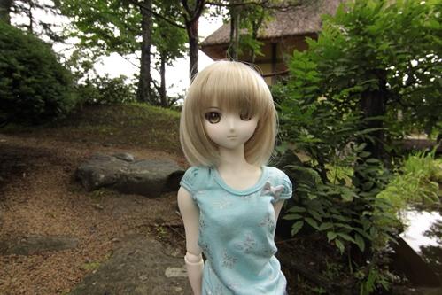 日本庭園にて アップ