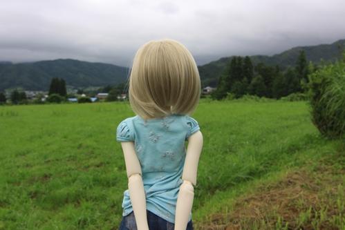 デンデラ野を眺めて