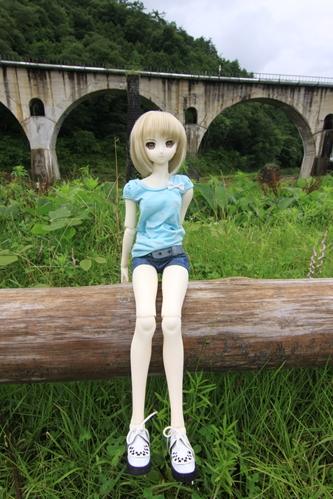 めがね橋を背景にその2