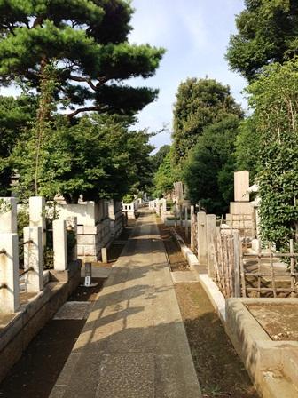 護国寺の墓地
