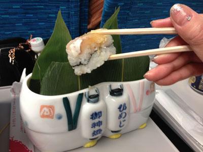 ほんとの中身は、鯛の押し寿司