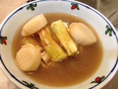 鶏スープとホタテの出汁を煮詰めて。。