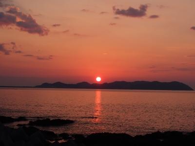 15天草西海岸の夕日