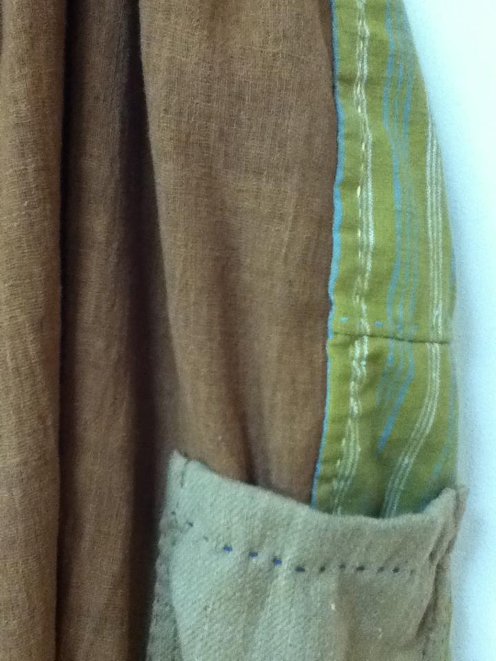 無農薬コットン手縫いパッチワンピj6