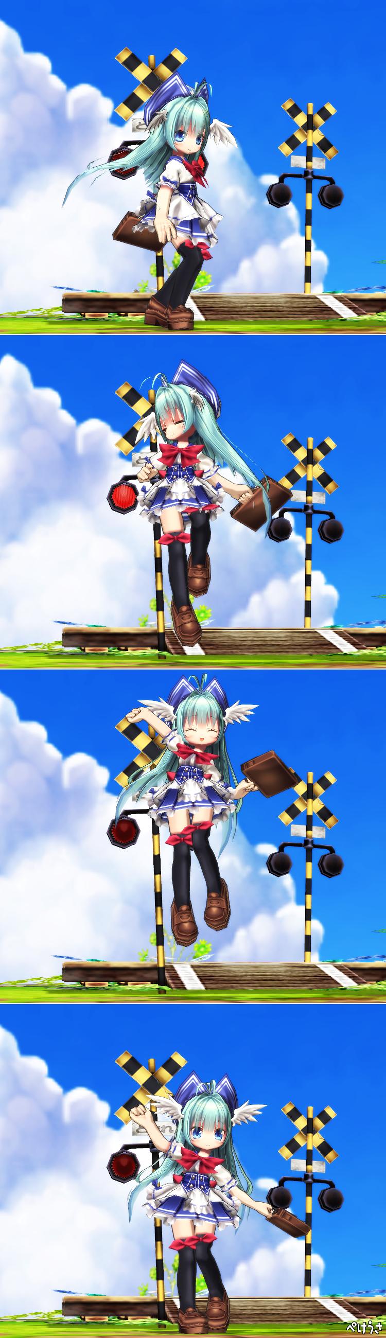 フィッシュちゃん(ターン、えいえいおーだよ!)