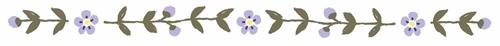 花の飾り罫