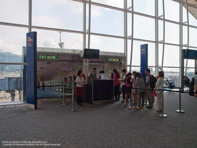 香港国際空港の搭乗口