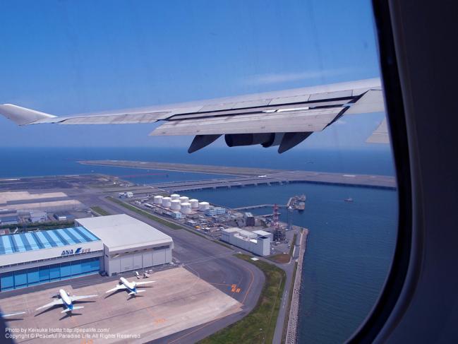 上空から見た羽田空港