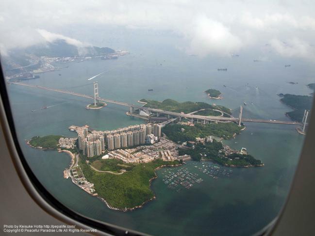 上空から見た香港
